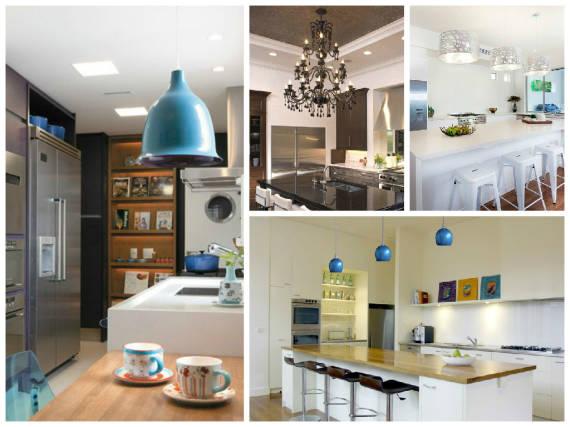 Tipos de lustres pendentes para cozinhas modernas