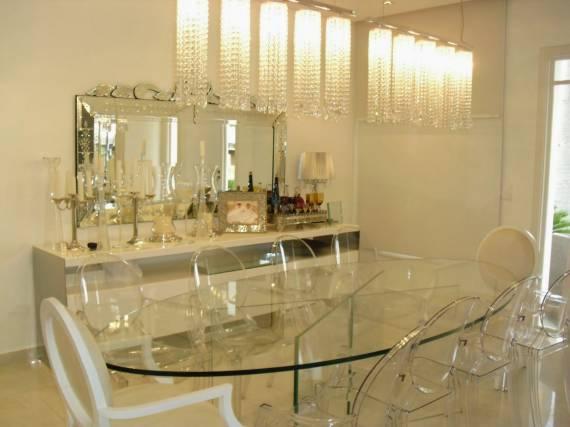Imagens de Decoração com espelho veneziano na sala de jantar