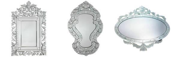 Tipos de espelhos venezianos - onde comprar