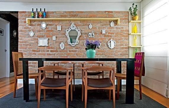 Fotos de salas de jantar decoradas com espelho provençal