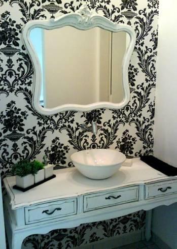Fotos de Lavabos com espelho provençal