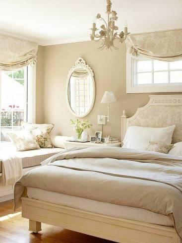 Fotos de quartos de casal com espelho provençal decorativo