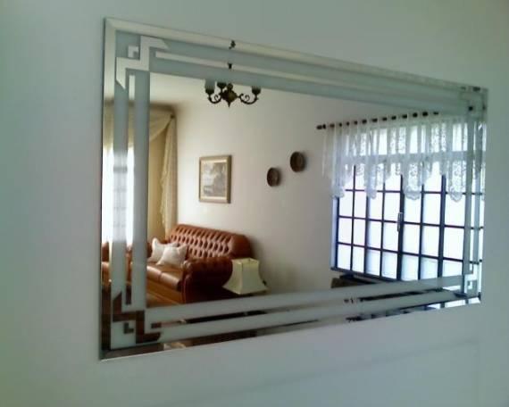 Fotos de decoração com espelho jateado - modelos