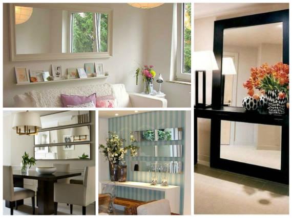 Tipos de Espelhos decorativos simples para sala