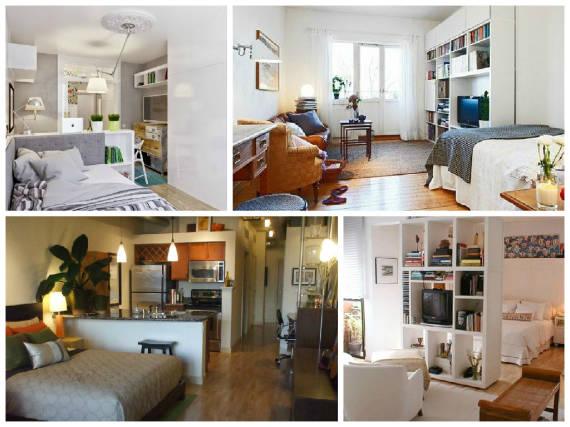 decoracao sala kitnet : decoracao sala kitnet:DECORAÇÃO DE KITNET: 40 Dicas Valiosas e Fotos!