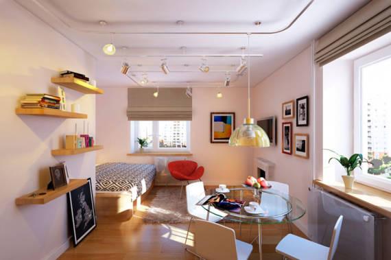decoracao quarto kitnet:Abuse dos espaços verticais (paredes) para decorar o lar. Quadros e