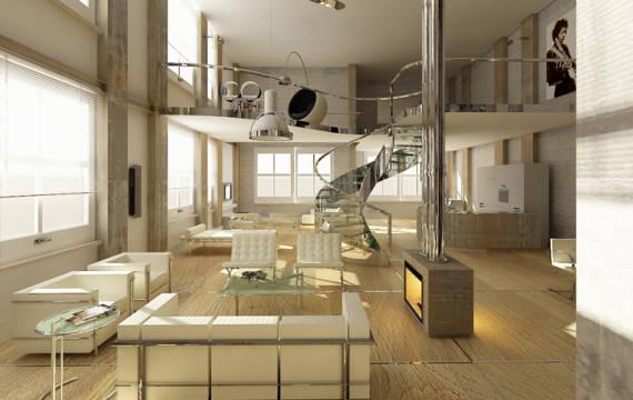 Revestimento para escada interna 5 materiais - Apartamento tipo loft ...