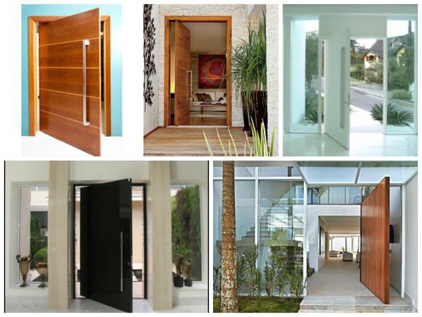 Modelos de portas pivotantes modernas