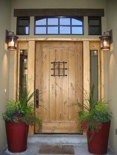 Modelos de portas de entrada rústicas