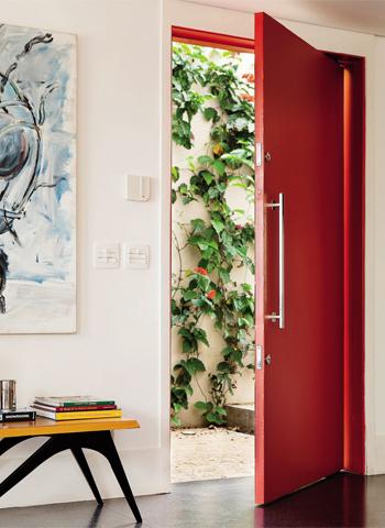 Fotos de portas coloridas