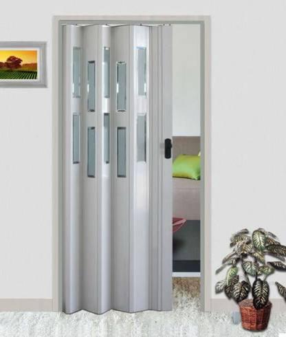 Porta sanfonada barata de PVC branca