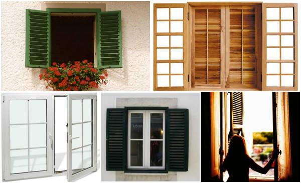 janelas de abrir em vários modelos