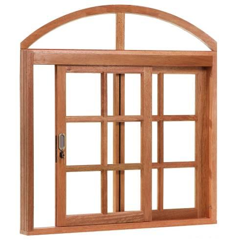 janela de correr em madeira