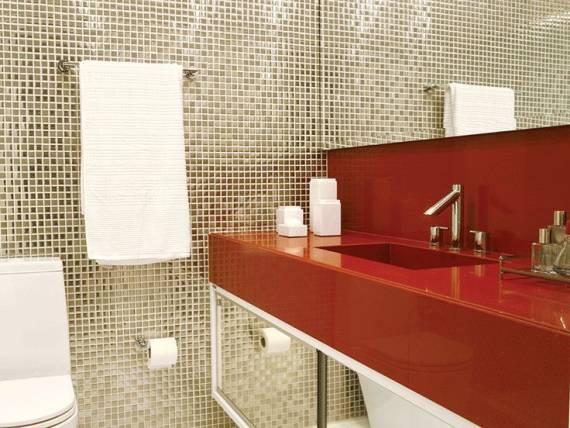 BANHEIROS COM PASTILHAS 60 Modelos e Dicas -> Revestimento Para Banheiro Com Pastilha