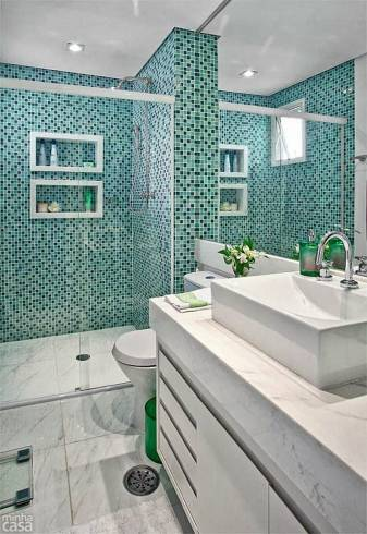 pastilha verde no banheiro