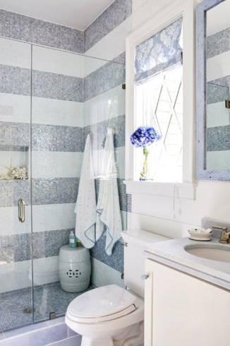 ampliar banheiro com pastilha de vidro