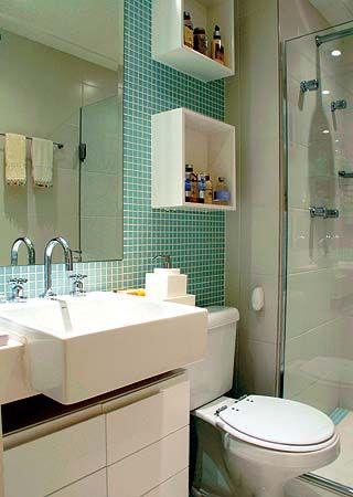 pastilha verde água no banheiro