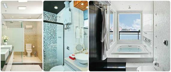 ideias para usar pastilha de vidro no banheiro