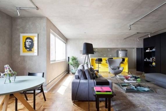 Sala De Estar Cinza Com Amarelo ~ Para combinar a cor neutra, vale se inspirar na combinação com