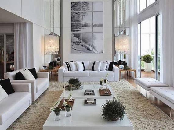 Sala De Estar Clin ~ ambiente todo branco é elegante, mas pode ficar sem apagado demais