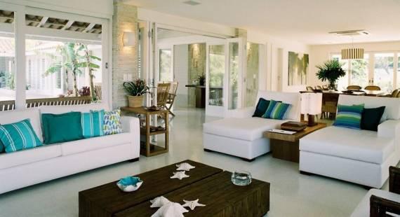 combinações de cores para sala branca