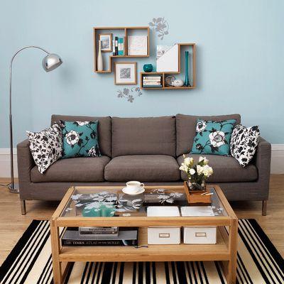 sala simples azul