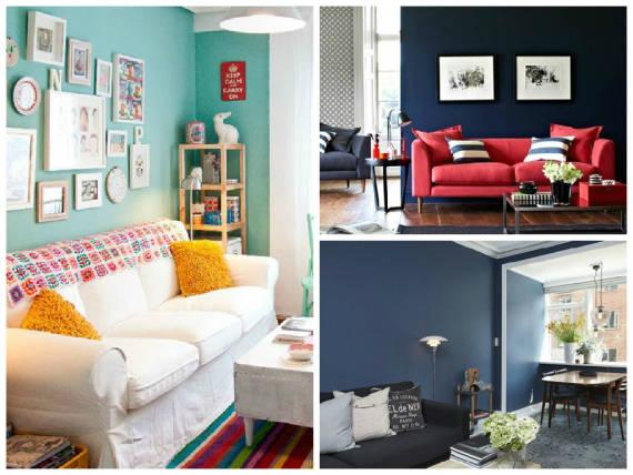 Sala De Estar Com Uma Parede Azul ~  papel de parede da sala de estar , são uma maneira de suavizar o tom