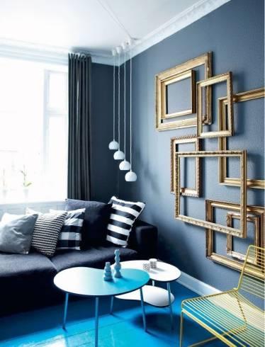 sala azul e dourada
