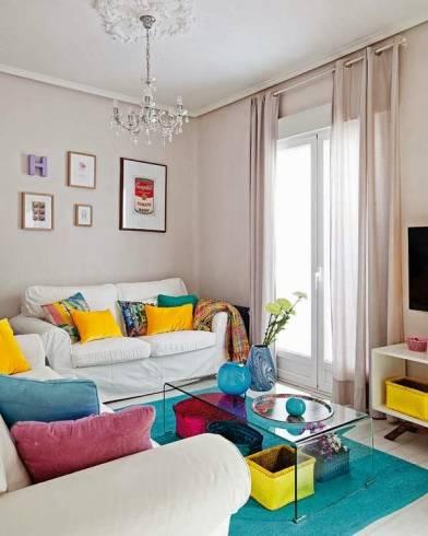 ideias para sala colorida