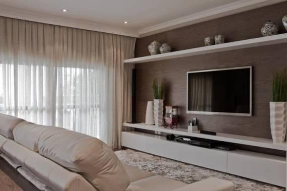 Como Colocar Tapete Na Sala De Tv ~ CORES PARA SALA DE ESTAR e TV 60 Dicas e Fotos