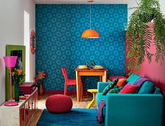 como combinar cores para sala