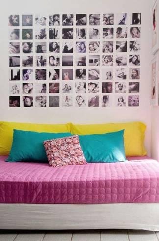 decoração com fotos em preto e branco
