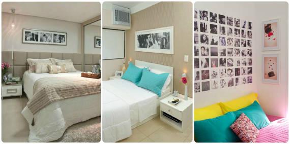 ideias para usar fotos na decoração do quarto