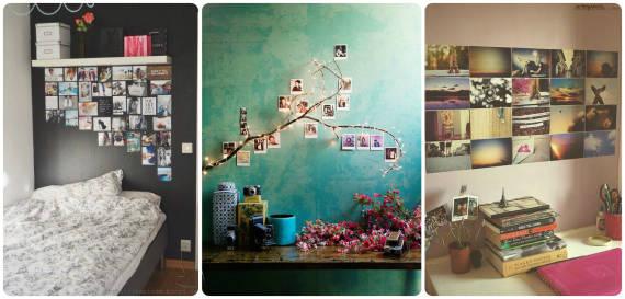 ideias para decorar parede com fotos