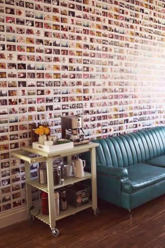 parede da sala com fotos
