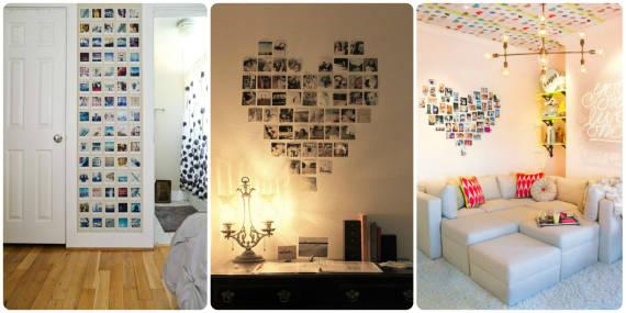 ideias de decoração de paredes com fotos