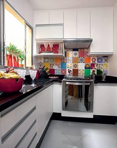 Decoração de cozinha Pequena Colorida