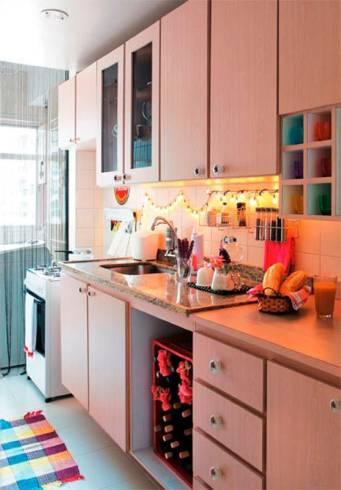 luzinha de natal para decorar cozinha pequena