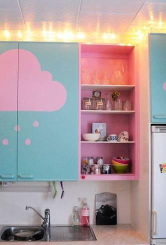 ideia barata para decorar cozinha pequena