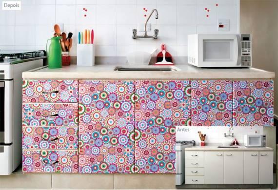 decoração simples e barata de cozinha pequena
