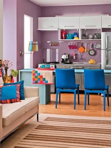 decoração cozinha pequena com balcão