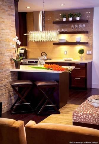 decoração clássica em cozinha pequena