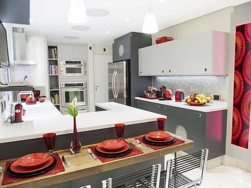 decoração clean cozinha pequena