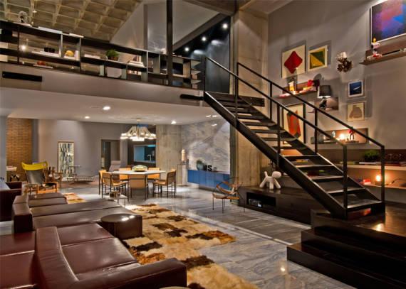 Mezanino 50 dicas modelos fotos projetos for Casa moderna tipo loft