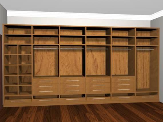 Modelos de closet 60 dicas e fotos for Modelos de zapateras para closets