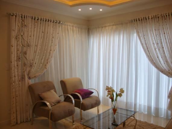 Modelos de cortinas 75 dicas para escolher for Modelos de cortinas de salon