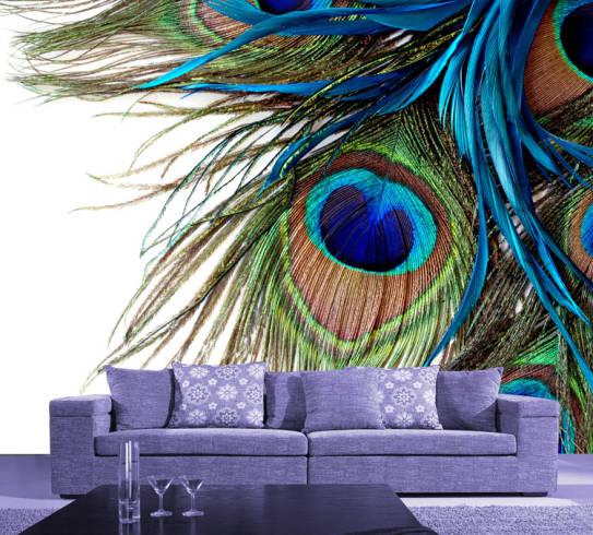 papel de parede 3D na sala de estar