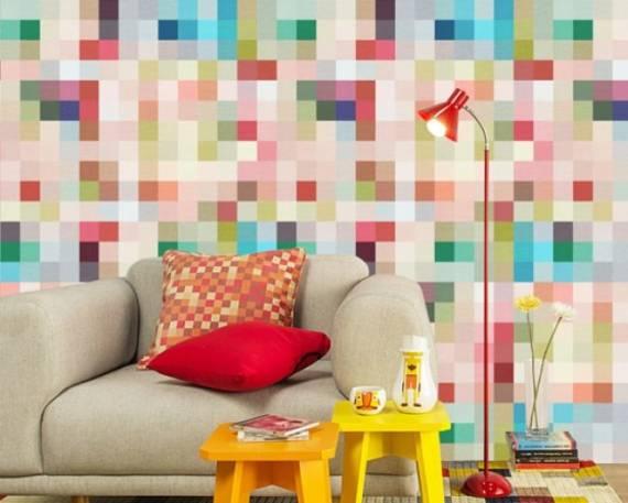 papel de parede colorido e moderno