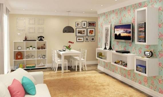 Sala De Star Com Tv ~ PAPEL DE PAREDE para Sala de Estar e TV