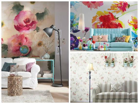 modelos de papeis de parede floral
